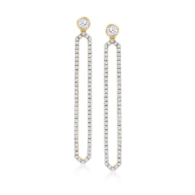 .50 ct. t.w. Diamond Geometric Drop Earrings in 14kt Yellow Gold
