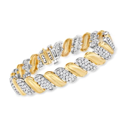 5.00 ct. t.w. Diamond San Marco Bracelet in 14kt Two-Tone Gold