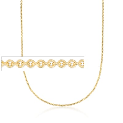 2.2mm 14kt Yellow Gold Forzantina Chain Necklace