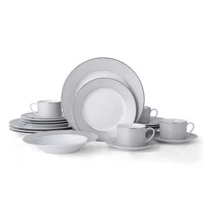 "Mikasa ""Percy Grey"" 20-pc. Service for 4 Dinnerware Set"