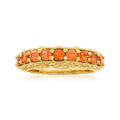Fire Opal Ring in 18kt Gold Over Sterling