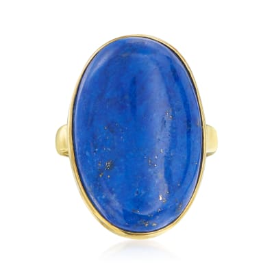 Lapis Ring in 14kt Yellow Gold