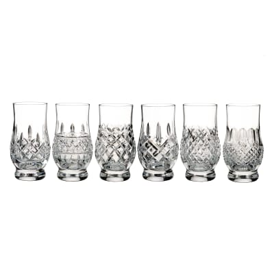 "Waterford Crystal ""Connoisseur"" Set of 6 Heritage Footed Tasting Tumbler Glasses"