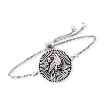 Sterling Silver Cardinal Bolo Bracelet