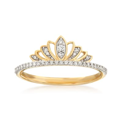 .15 ct. t.w. Diamond Tiara Ring in 14kt Yellow Gold