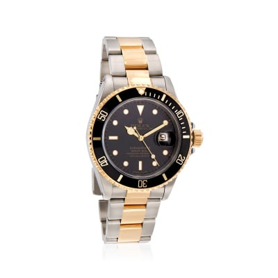 Pre-Owned Rolex Submariner Men's 40mm Automatic Stainless Steel and 18kt Yellow Gold Watch
