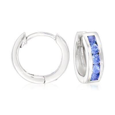 .60 ct. t.w. Tanzanite Huggie Hoop Earrings in Sterling Silver