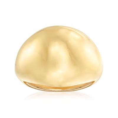 Italian Andiamo 14kt Yellow Gold with Resin Dome Ring