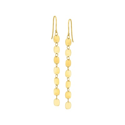 Italian 14kt Yellow Gold Drop Earrings