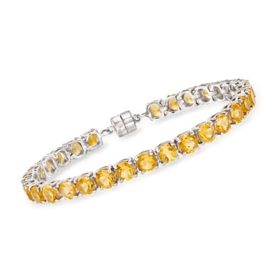 14.00 ct. t.w. Citrine Bracelet in Sterling Silver