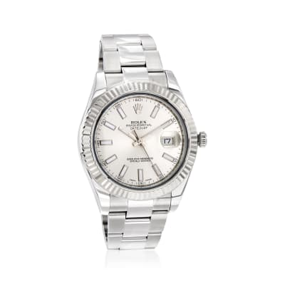 Pre-Owned Rolex Datejust II Men's 41mm Automatic Stainless Steel Watch with 18kt White Gold