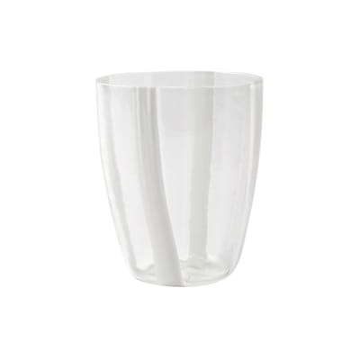 "Vietri ""Stripe White"" Short Tumbler from Italy"