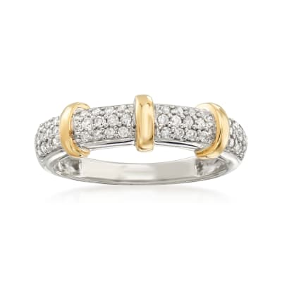 .33 ct. t.w. Diamond Ring in Sterling Silver and 14kt Yellow Gold