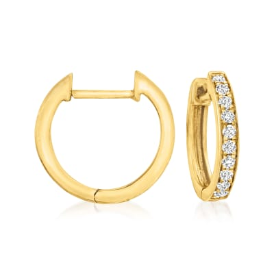 .15 ct. t.w. Diamond Huggie Hoop Earrings in 14kt Yellow Gold