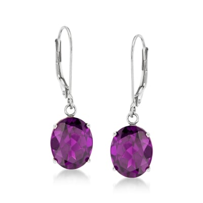 4.80 ct. t.w. Amethyst Drop Earrings in 14kt White Gold