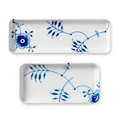 "Royal Copenhagen ""Blue Fluted Mega"" Porcelain Oblong Dish"