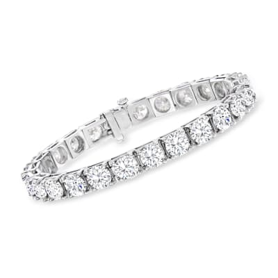26.00 ct. t.w. Diamond Tennis Bracelet in 14kt White Gold