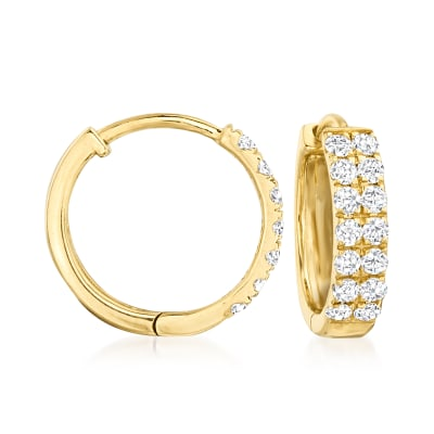 .33 ct. t.w. Diamond Huggie Hoop Earrings in 14kt Yellow Gold