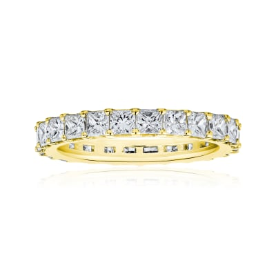 2.75 ct. t.w. Princess-Cut Diamond Eternity Band in 14kt Yellow Gold