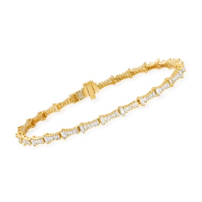 1.22 ct. t.w. Diamond Bracelet in 14kt Yellow Gold