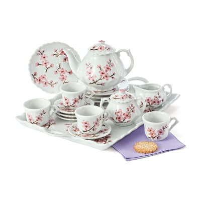 "Child's ""Cherry Blossom"" Porcelain Tea Set"
