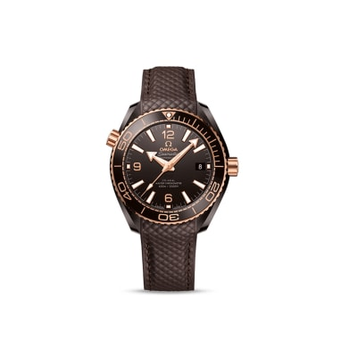 Omega Seamaster Planet Ocean Men's 40mm Automatic Brown Ceramic and 18kt Rose Gold Watch