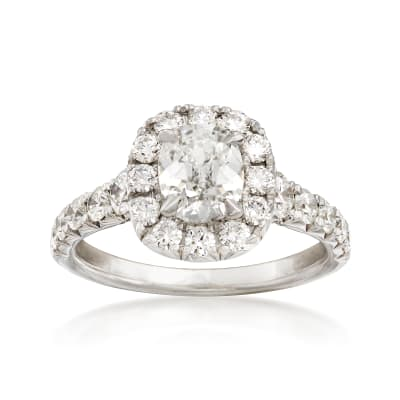 Henri Daussi 2.09 ct. t.w. Certified Diamond Engagement Ring in 18kt White Gold