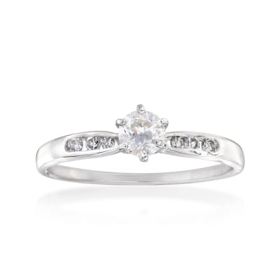 C. 1970 Vintage .37 ct. t.w. Diamond Engagement Ring in 14kt White Gold