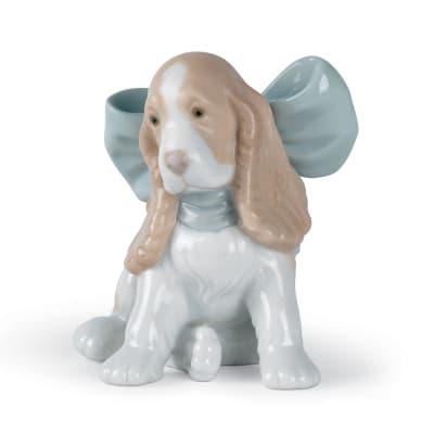 "Nao ""Puppy Present"" Porcelain Figurine"