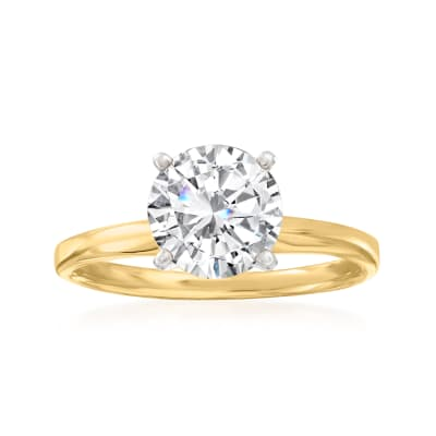 2.00 Carat Diamond Solitaire Ring in 14kt Yellow Gold