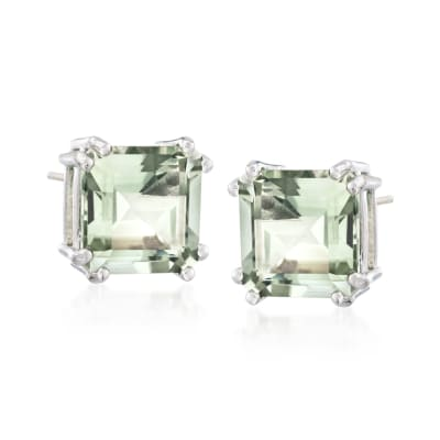 9.00 ct. t.w. Prasiolite Earrings in Sterling Silver