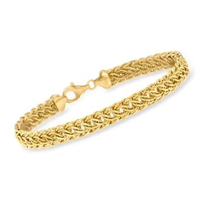 18kt Yellow Gold Cestina-Link Bracelet