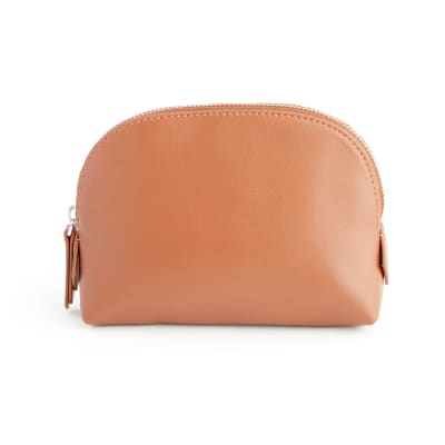 Royce Tan Leather Cosmetic Case