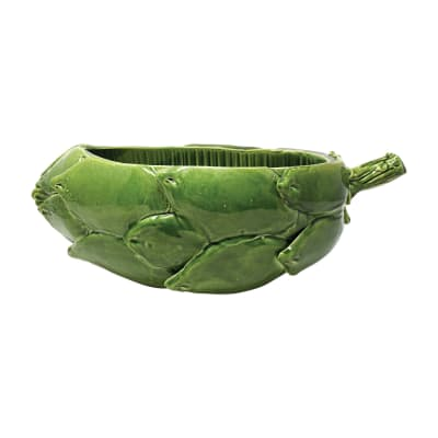 "Vietri ""Artichoke"" Green Figural Centerpiece from Italy"