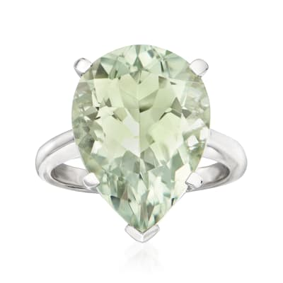 8.75 Carat Prasiolite Ring in Sterling Silver