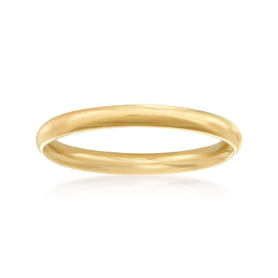 Women's 2mm 14kt Yellow Gold Wedding Ring