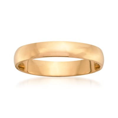 Men's 4mm 14kt Yellow Gold Wedding Ring