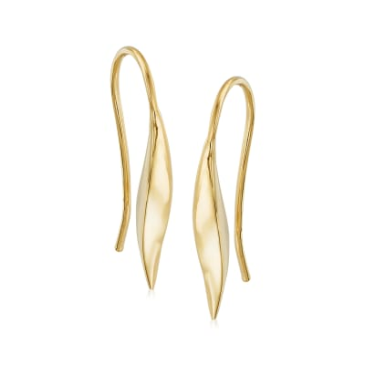 Italian 14kt Yellow Gold Curved Drop Earrings