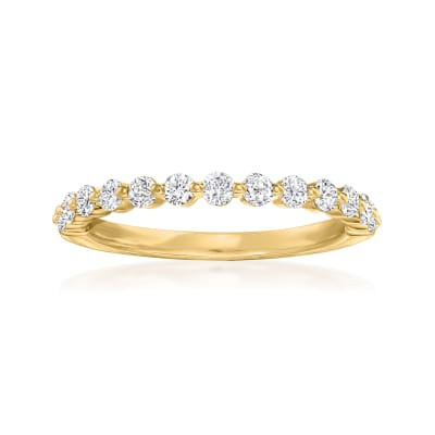 Henri Daussi .50 ct. t.w. Diamond Wedding Ring in 14kt Yellow Gold