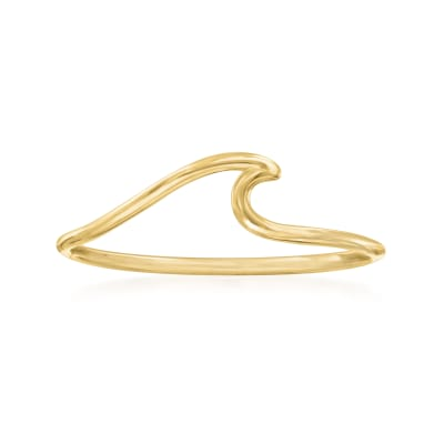 14kt Yellow Gold Wave Ring