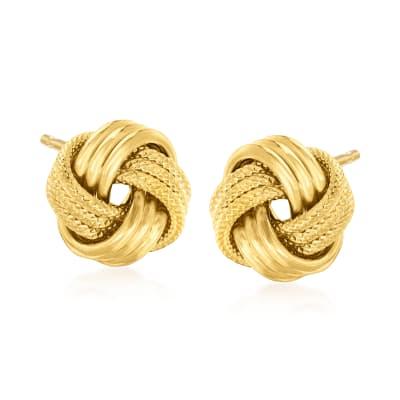 Italian 18kt Gold Over Sterling Love Knot Earrings