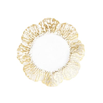 "Vietri ""Rufolo"" Gold Glass Canape Plate"