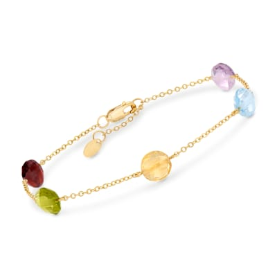 7.80 ct. t.w. Mixed Gem Bracelet in 14kt Yellow Gold