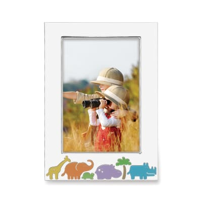 "Reed & Barton ""Jungle Parade"" Silver Plate Frame"