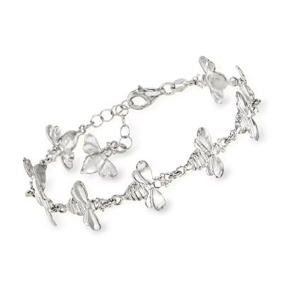 Italian Sterling Silver Bee Bracelet