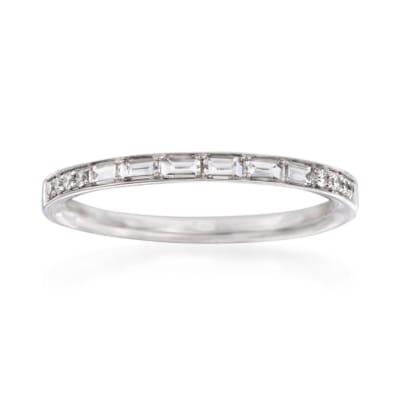 Simon G. .31 ct. t.w. Diamond Wedding Ring in 18kt White Gold