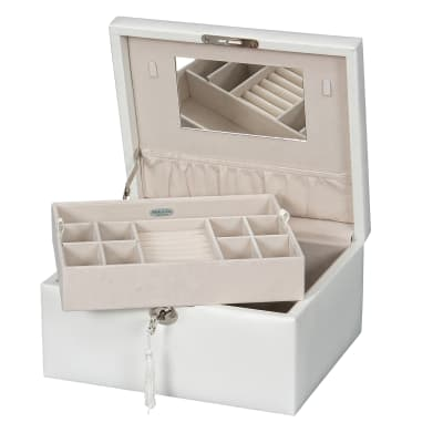 "Mele & Co. ""Edith"" Locking Fashion Jewelry Box"
