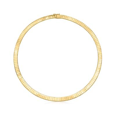 C. 1980 Vintage 6mm 14kt Yellow Gold Omega Necklace