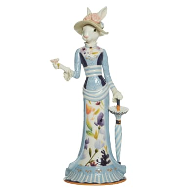 "Fitz and Floyd ""Floral Splash"" Female Rabbit Figurine"