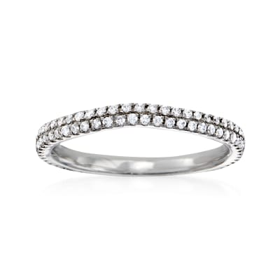.32 ct. t.w. Pave Diamond Wedding Ring in 14kt White Gold
